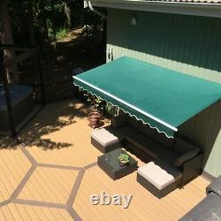2.5 x 2m Patio Manual Awning Garden Canopy Sun Shade Retractable Shelter Outdoor