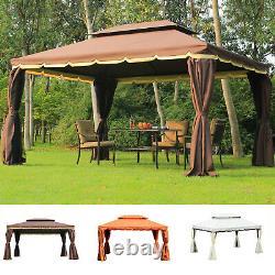 3 x 4 m Aluminium Gazebo Marquee Canopy Pavilion Patio Garden Party Tent 3 Color