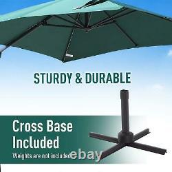 3m Banana Parasol Sun Shade Garden Outdoor Patio Umbrella Cantilever Canopy UK
