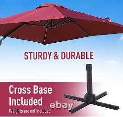 3m Banana Parasol Sunshade Garden Beach Outdoor Patio Umbrella Cantilever Canopy