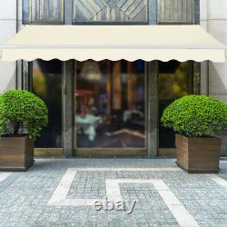 3x2.5M Manual Awning Canopy Garden Patio Shade Shelter Aluminium Retractable