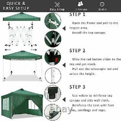 3x3M Gazebo Marquee Strong Waterproof Garden Patio Party Tent Canopy Outdoor UK