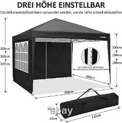 3x3M Gazebo Marquee Strong Waterproof Heavy Duty Garden Patio Party Tent Canopy