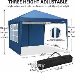 3x3M Gazebo Pop Up Marquee Strong Waterproof Garden Party Patio Tent Canopy Blue