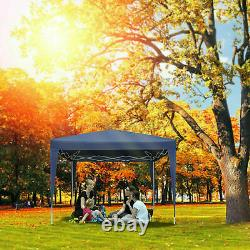3x3M Pop Up Gazebo Marquee Canopy Waterproof Garden Patio Party Tent withsides UK