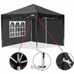 3x3M Pop-Up Waterproof Gazebo Canopy Marquee Strong Heavy Duty Garden Patio Tent