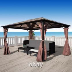 3x4m Gazebo with Curtain Aluminium Party Tent Patio Shade Sun Shelter Canopy