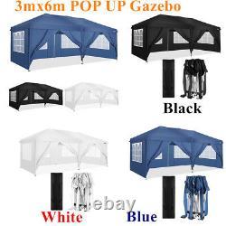 3x6M Heavy Duty Gazebo BBQ Canopy Waterproof Garden Patio Party Tent 4 Sides