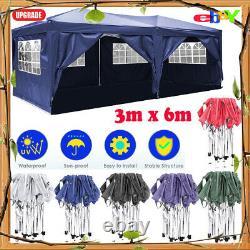 3x6M Heavy Duty Gazebo Marquee Canopy Waterproof Garden Patio Party Tent NEUUK