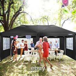3x6M Heavy Duty Gazebo Marquee Canopy Waterproof Garden Patio Party Tent withSide