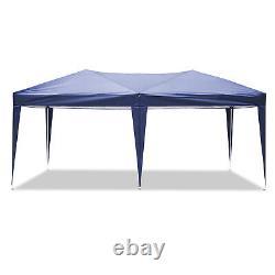 3x6M Heavy Duty Gazebo Mit Sides Marquee Canopy Waterproof Patio Party Tent Blue