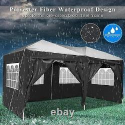 3x6M Pop Up Gazebo Canopy Marquee Strong Waterproof Heavy Duty Garden Patio Tent