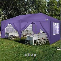 3x6m Garden Gazebo Black Party Shelter Tent Patio Shade Outdoor Canopy Upgrade