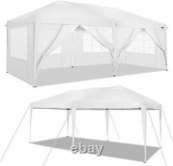 3x6m Pop Up Gazebo Marquee Party Tent Waterproof Garden Patio Shelter Canopy UK