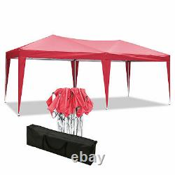 3x 6m Garden Gazebo Black Party Shelter Tent Patio Shade Outdoor Sun Canopy Red