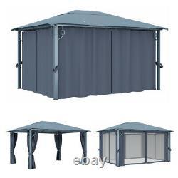 4X3m Waterproof Gazebo Outdoor Marquee Patio Canopy Tent Sunshade Shelter BBQs