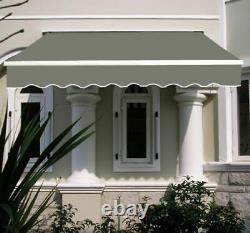 4 x 3m Manual Awning Patio Canopy Garden Shelter Sun Shade Aluminium Greenbay