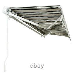 4mx3m Manual Awning Canopy Garden Patio Sun Shade Shelter Aluminium Retractable