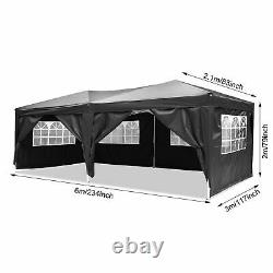 6M x 3M Heavy Duty Gazebo MarketStall Waterproof Garden Patio Party Canopy Tent
