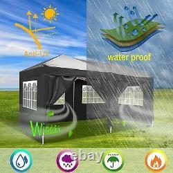 6Mx3M Heavy Duty Gazebo Pop Up Waterproof Marquee Garden Party Patio Tent Canopy