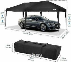 6Mx3M Heavy Duty Gazebo Sun Canopy Waterproof Garden Patio Party MarktStall Tent