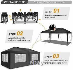 6x3M/3x3M Heavy Duty Gazebo Canopy Waterproof Garden Patio Party Market Tent NEW