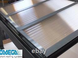 Aluminium Canopy, Carport, Patio Cover 3.5m 4.5m Projection, Anthracite Grey