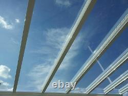 Aluminium Canopy, Carport, Patio Cover Glass Clear BROWN Framework