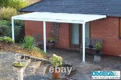 Aluminium Canopy, Carport, Patio or Caravan Cover 3.5m 4m Projection