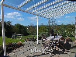 Aluminium Glass Clear Canopy, Patio cover, Carport, Caravan Cover 2.1 M x 1.5M