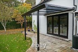 Aluminium Veranda Garden Patio Structure Choice Of Colours Glass Roof Canopy