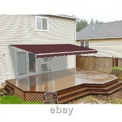 Awning Canopy Garden Patio Sun Shade Shelter Retractable Commercial Grade Porch