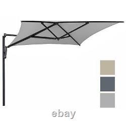 Azuma Wall Mounted Garden Parasol 2m Square Canopy Patio Sun Shade Aluminium