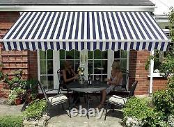 BIRCHTREE Retractable Awning Manual Aluminium Canopy Patio Sun Shade Shelter
