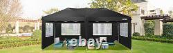COBIZI 3x6M Gazebo Marquee Canopy 100% Waterproof Garden Patio Party Tent BLACK
