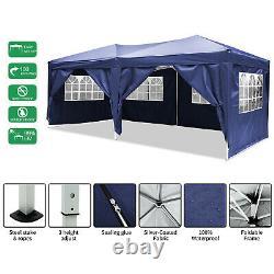 COBIZI 3x6m Garden Gazebo Party Market Tent Patio Shade Outdoor Sun Blue Canopy