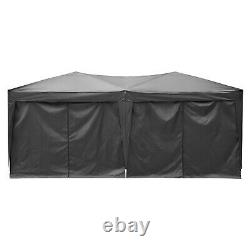 COBIZI 3x6m Gazebo Black Party Shelter Tent, Patio Shade Outdoor Sun Canopy NEW