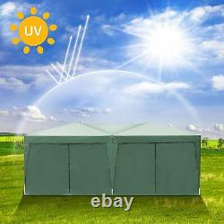 COBIZI Garden Waterproof Popup Gazebo 3x6m Patio Outdoor Canopy Party Tent Green