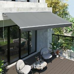 Electric Patio Casette Awning Motorised Retractable Window Canopy Sun Shade Grey