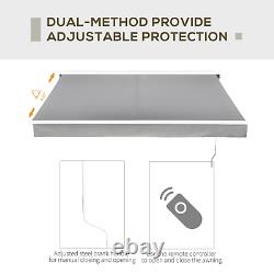 Electric Retractable Awning 2.5x2m Grey Canopy Waterproof Patio Cassette Shade