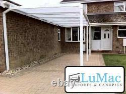 Fixed Aluminium carport patio canopy garden cover shelter leanto conservatory