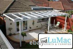 GLASS Clear carport patio canopy cover lean to awning garden Fixed Aluminium