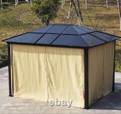 Garden Gazebo Canopy LED Solar Light Large Metal Structure Hot Tub Patio Shelter