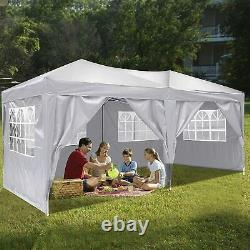 Garden Gazebo Marquee Party Market Tent Patio Shade Outdoor Canopy 3x6m White UK