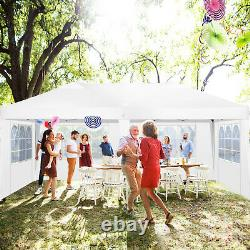 Garden Gazebo White Party Shelter Tent Patio Shade Outdoor Pop up Canopy 3x6m UK