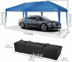 Garden Waterproof Pop Up Gazebo 3x6m Patio Outdoor Canopy Party Tent With Sides