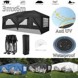 Gazebo 3x6 m Waterproof Marquee Garden Patio Canopy Party Shade Wedding COBIZI