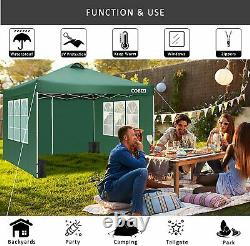 Gazebo Marquee Party Patio Tent With Sides Waterproof Garden Outdoor Canopy 3x3M