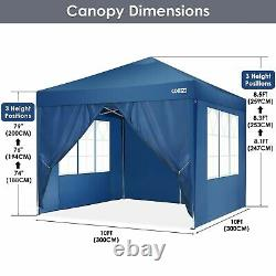 Gazebo Pop Up Tent Strong Waterproof 3x3M Marquee Garden Party Patio Canopy NEW