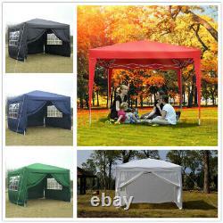 Heavy Duty 3x3m Gazebo Marquee Canopy Waterproof Pop Up Garden Patio Party Tent
